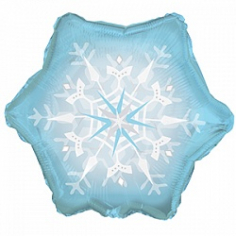 Шар Фигура Снежинка, Голубой (в упаковке)