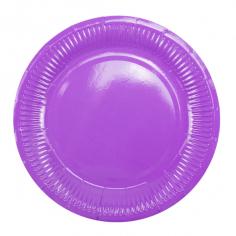 Тарелки бумажные ламинированные Лиловый / Purple