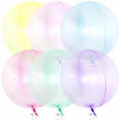 Шар Сфера 3D, Deco Bubble, Ассорти, Кристалл (в упаковке)