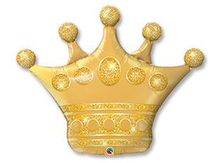 Шар Фигура Корона золото (в упаковке)