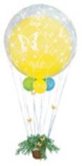 Сетка на шар Белая / Raffia balloon net