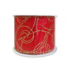 Лента армированная Атлас Красный