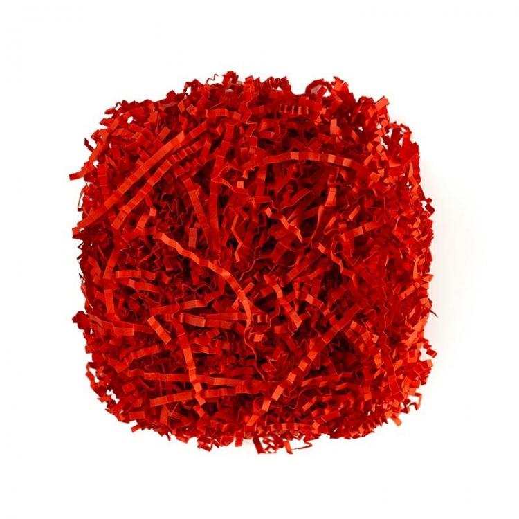 Наполнитель для коробок Красный-коралловый, гофрированный