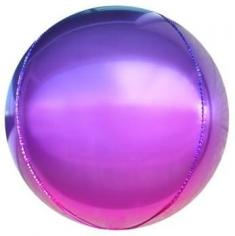 Шар Сфера 3D, Фиолетовый/Фуше, Градиент