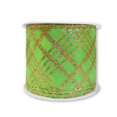 Лента армированная Атлас Светло-зеленый