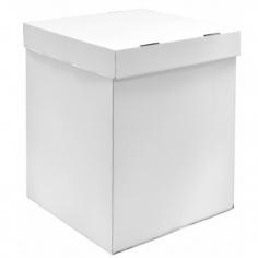 Коробка для воздушных шаров, Белый, 55*55*80 см