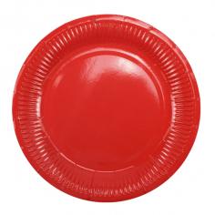 Тарелки бумажные ламинированные Красный / Red