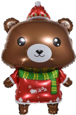 Шар Фигура, Новогодний мишка (в упаковке)