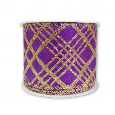 Лента армированная Атлас Фиолетовый