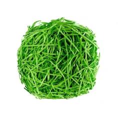 Наполнитель для коробок Бумажный Ярко-Зелёный гофрированный