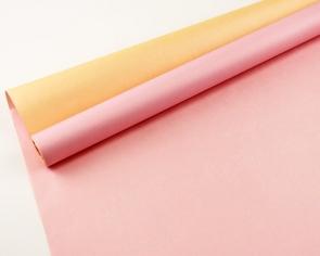 Крафт-бумага белёная двусторонняя Розовый-Персик 50гр. / рулон