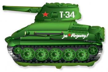Шар фигура, Танк T-34, Зеленый / Tank (в упаковке)