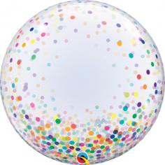 Шар Сфера 3D, Deco Bubble Конфетти разноцветное