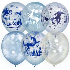 Шар Bubble Зимняя сказка, Ассорти Кристалл