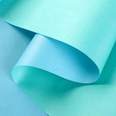 Крафт-бумага белёная двусторонняя Светло Голубой-Мята 50гр. / рулон