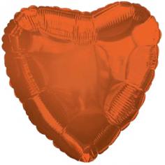 Шар Сердце, Темно-Оранжевый / Orange