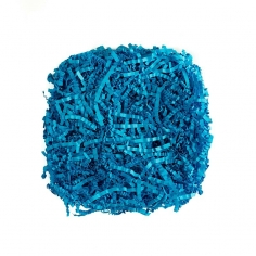 Наполнитель для коробок Бумажный Голубой лёд гофра