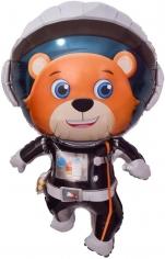 Шар Фигура, Медвежонок Космонавт (в упаковке)