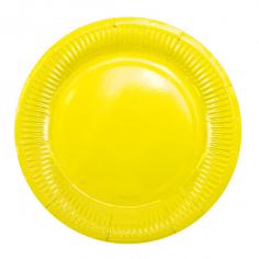 Тарелки бумажные ламинированные Желтый / Yellow