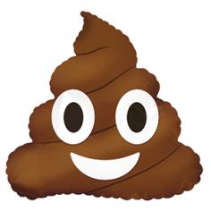 Шар фигура, Смайл Эмоции (Шоколадное мороженое), Коричневый (в упаковке)