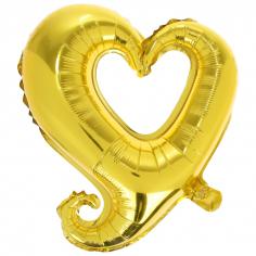 Шар фигура, Сердце витое, Золото / Heart shape gold (в упаковке)