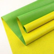 Крафт-бумага белёная двухсторонняя Зеленый-Желтый 50гр. / рулон