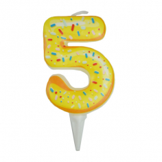 Свеча Цифра 5 Пончик