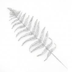 Листья папоротника искусственные Серебряные