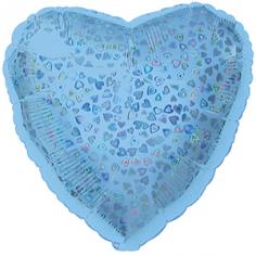 Шар Сердце, Голубой голография / Blue