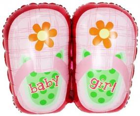 Шар Фигура, Туфельки для девочки, Розовый (в упаковке)