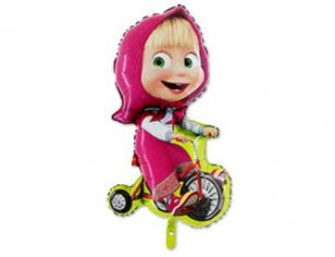 Шар фигура, Маша на велосипеде (в упаковке)