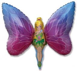 Шар фигура, Девочка - бабочка / Lady Butterfly (в упаковке)