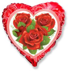 Шар Сердце, Розы / Roses