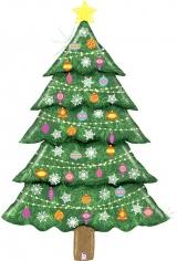 Шар Фигура, Новогодняя елка, Голография (в упаковке)