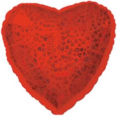 Шар Сердце, Красный голография / Red