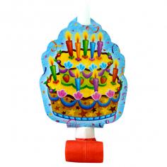 Язычок-гудок с карточкой Праздничный торт 6шт