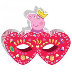 Маска бумажная «Пеппа-принцесса» 6 шт