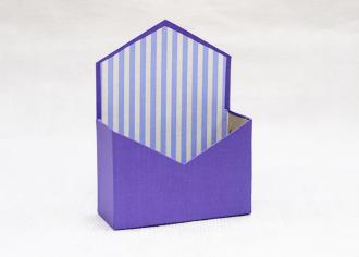 Конверт из картона под композицию Перламутр фиолетовый