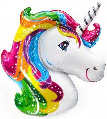 Шар Мини-фигура Голова единорога / Unicorn Head (в упаковке)