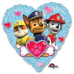 Шар Сердце, Щенячий патруль сердце голубое