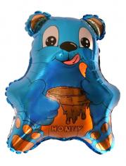 Шар Фигура, Медвежонок с мёдом (синий) / Bear (в упаковке)