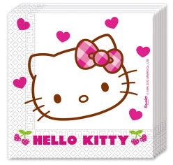 Салфетки Хэллоу - Китти / Hello Kitty Hearts