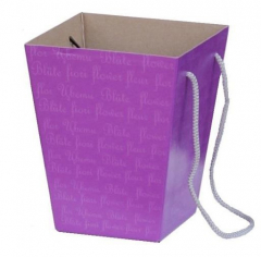 Коробка для цветов Фиолетовая