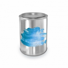 Краска для печати Голубой металлик (шелк)