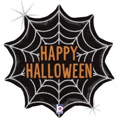 Шар Фигура, Паутинка на Хэллоуин, Черный, Голография (в упаковке)