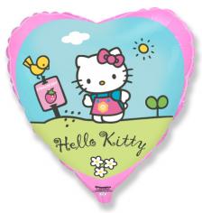 Шар Сердце, Хелло Китти в саду / Hello Kitty