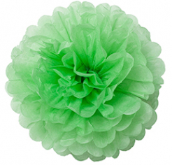 Бумажный помпон Зеленый