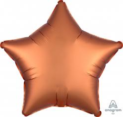 Шар Звезда Сатин Оранжевый / Satin Amber