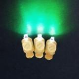 Светодиоды 3D Зеленые в оболочке