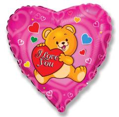 Шар Сердце, Влюбленный счастливый Медвежонок / Love Happy Bear